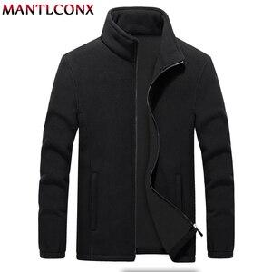 Image 1 - MANTLCONX M 9XL Fleece Jacke Männer Große Größe Jacke Mantel Männer Oberbekleidung Große Größe Im Freien Warme Jacken und Mäntel für Männer winter