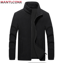 MANTLCONX M 9XL Fleece Jacket Men Large Size Jacket Coat Men Outerwear Big Size Outdoor Warm Jackets and Coats for Men Winter