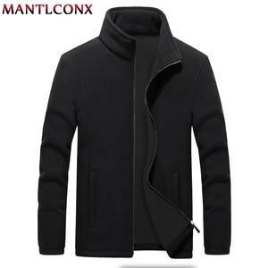 Image 1 - MANTLCONX M 9XL Fleece Jacket Men Large Size Jacket Coat Men Outerwear Big Size Outdoor Warm Jackets and Coats for Men Winter
