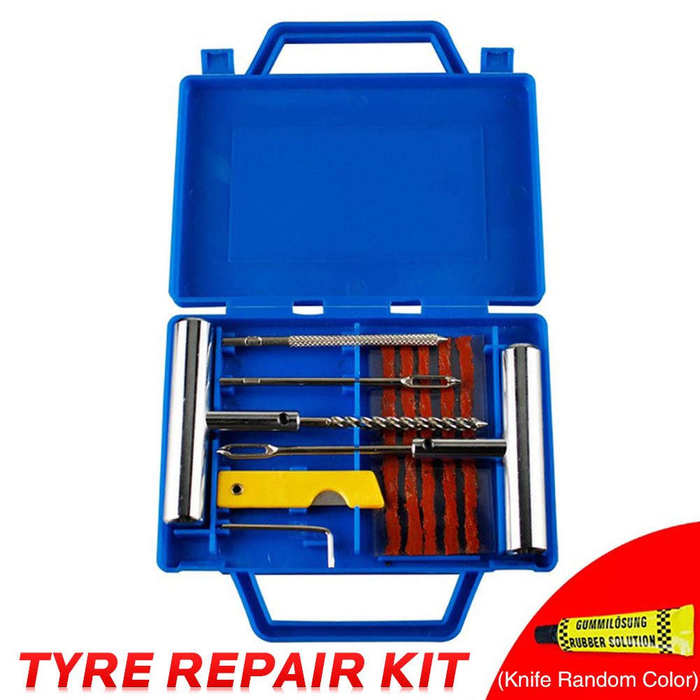 11pcs Tyre Repair Kit Outdoor Metal Plug Flat Fix Puncture Universal For Automobiles Motorcycle Travel Multifunction car tools