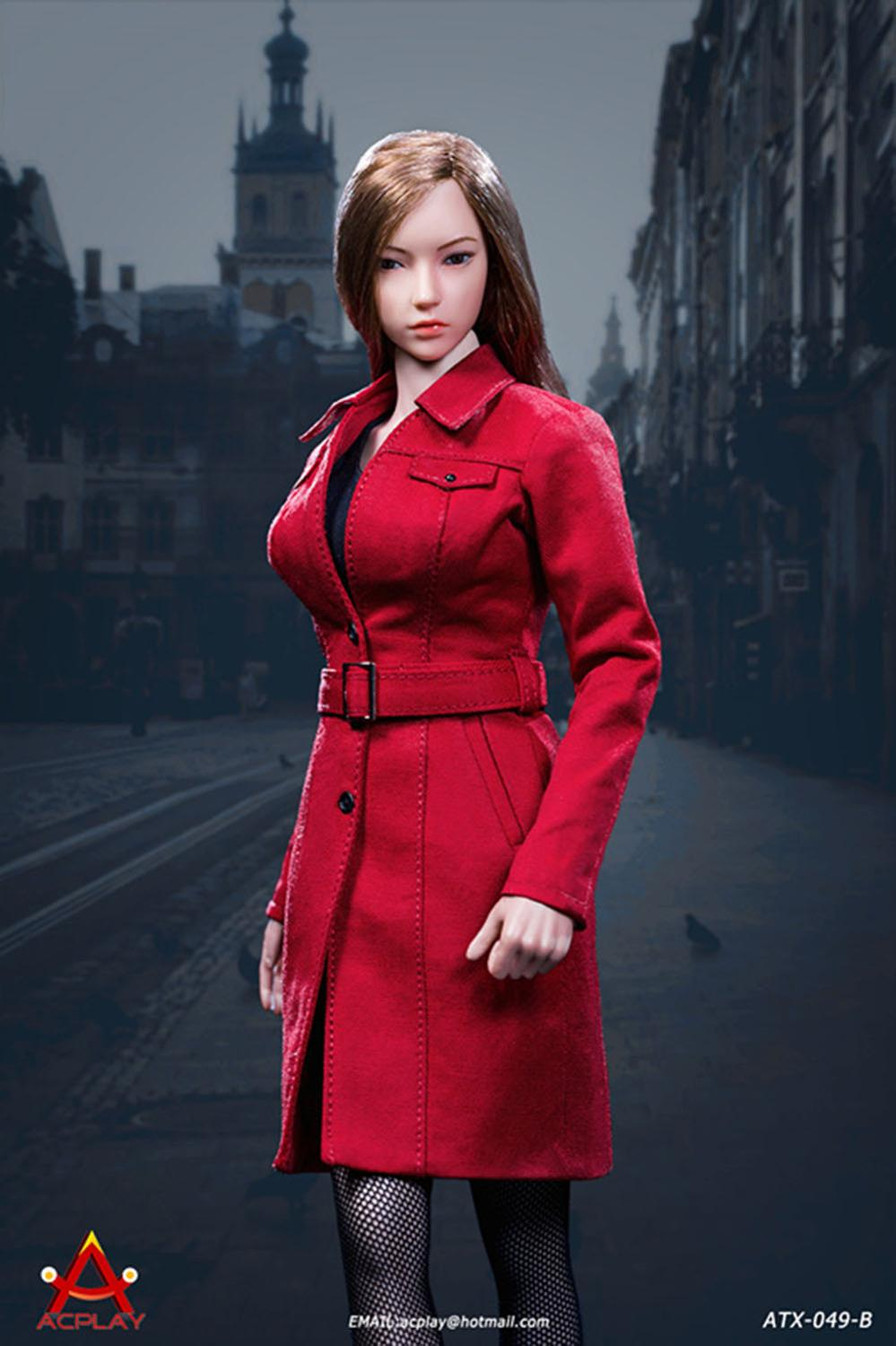 "1//6 Scale ACPLAY ATX049B Female Long Coat Clothes Set F 12/""Figure Doll"