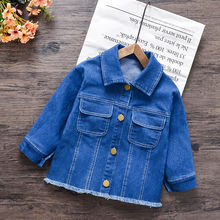 Джинсовая куртка для девочек маленьких мальчиков; Сезон весна