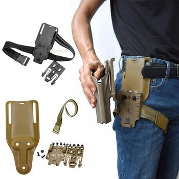 Drop Leg Band Strap QLS 19 22 Gun Holster for Safa Glock 17 Beretta m9 Hunting Pistol Waist Belt Platform - discount item  25% OFF Hunting