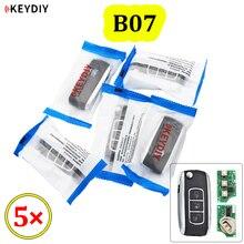 Télécommande universelle à 3 boutons KEYDIY série B B07, 5 pièces/lot, pour KD200 KD900 KD900 + URG200 KD X2 Mini KD BC Style