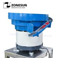 ZONESUN Vibratory Feeder pump sprayer cap vibratory bowl feeder automatic bottle bowl sorter unscrambler for Capping Machine