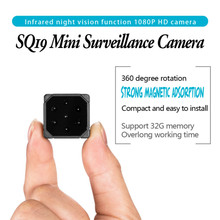 цена на SQ19 1080P Mini Camera  Sports DV Infrared Night Vision cam Monitor Concealed small Camcorder DV Video Recorder Support TF Card