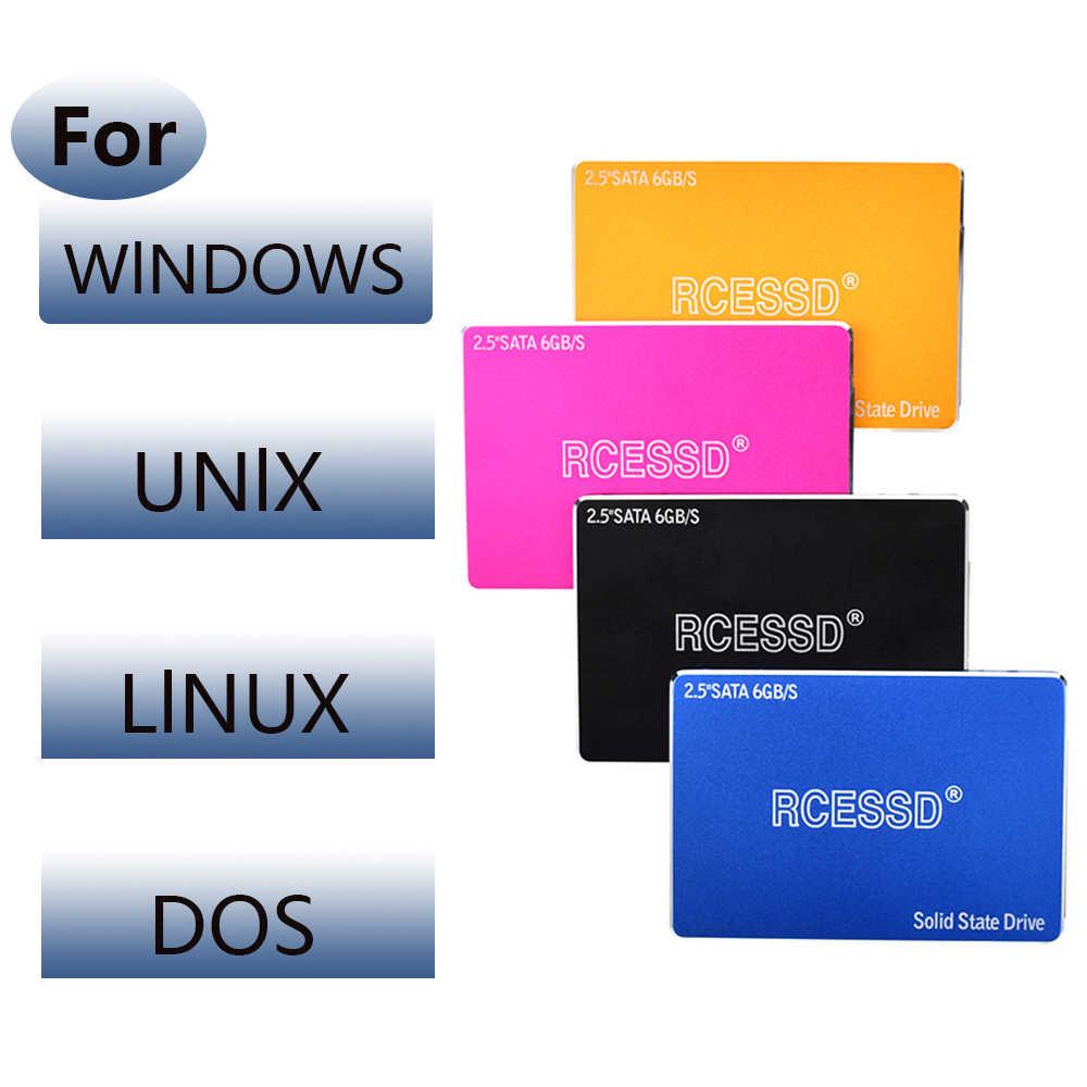 RCESSD hdd 2.5 SATA3 SSD 120gb ssd 240 gb 480gb ssd 1TB 2TB 500gb wewnętrzny półprzewodnikowy dysk twardy do laptopa dysk twardy pulpit