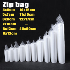 Thick Transparent Zip lock Ziplock Bags Clear Plastic Ziplock Zip Zipped Lock Food package Storage Bag Small Reclosable Bags