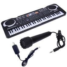 цена на 61 Keys Digital Music Electronic Keyboard Key Board Electric Piano Children Gift, US Plug