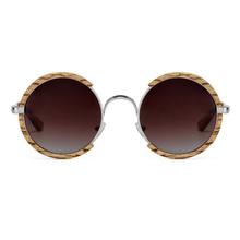 Alle Jahreszeiten Männer Handgemachte Holz Polarisierte Sonnenbrille Gradienten Grau Linsen UV400 Retro Stil Runde Frauen Sonnenbrille Mit Fall