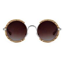 Todas as estações homem feito à mão óculos de sol polarizados de madeira gradiente lentes cinzentas uv400 estilo retro redondo feminino óculos de sol com caso