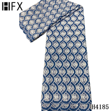 Guipure Lace African Wedding-Dress French High-Quality 5-Yards HFX for F4185 Cord Water-Soluble