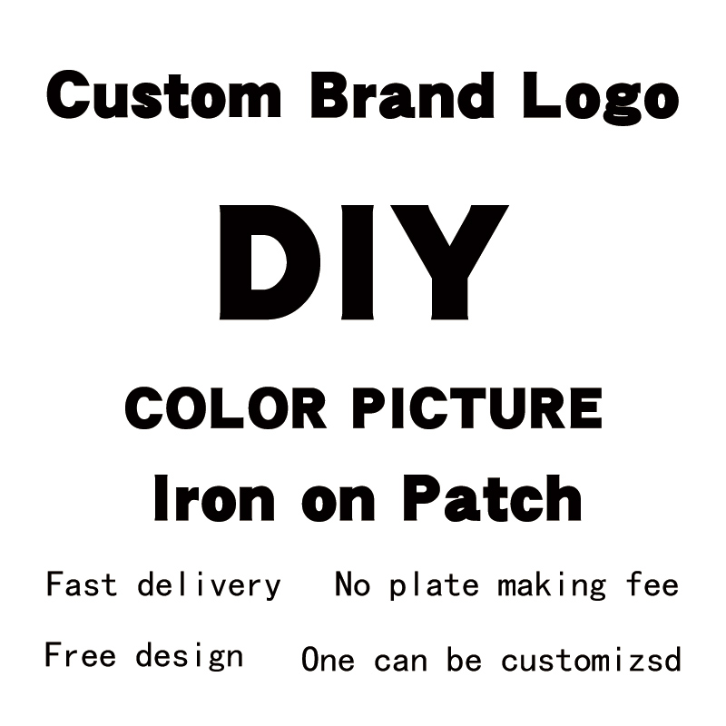 Company Logo Customization Iron On Transfer Support Customization On T-Shirt Clothing Printing DIY Appliques Stickers on Clothes