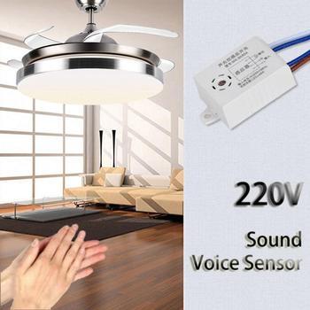 Przełącznik głosowy 220V detektor dźwiękowy czujnik głosu inteligentny włącznik światła włącznik dźwięku do lamp sufitowych LED Downlights tanie i dobre opinie Alphun CN (pochodzenie) UE Wtyczka Prawie gotowy WEJŚCIE 3 kanały