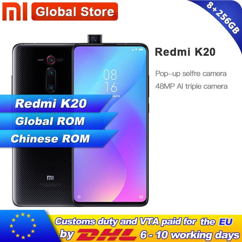 Global Rom Xiaomi Redmi K20 8GB RAM 256GB Smartphone Snapdragon 730 48MP Rear Camera Pop up