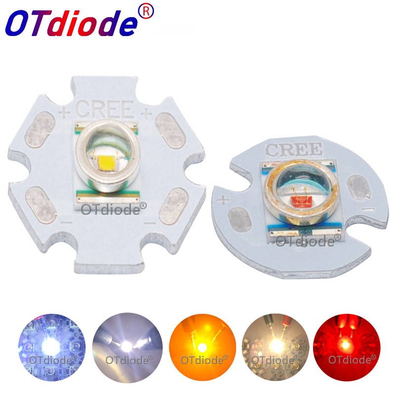 1-50PCS CREE 3W LED XRE Xre Q5 Emitter Chip Light Cold Warm White Yellow Orange Red Diode For Flashlight Parts Spot Light