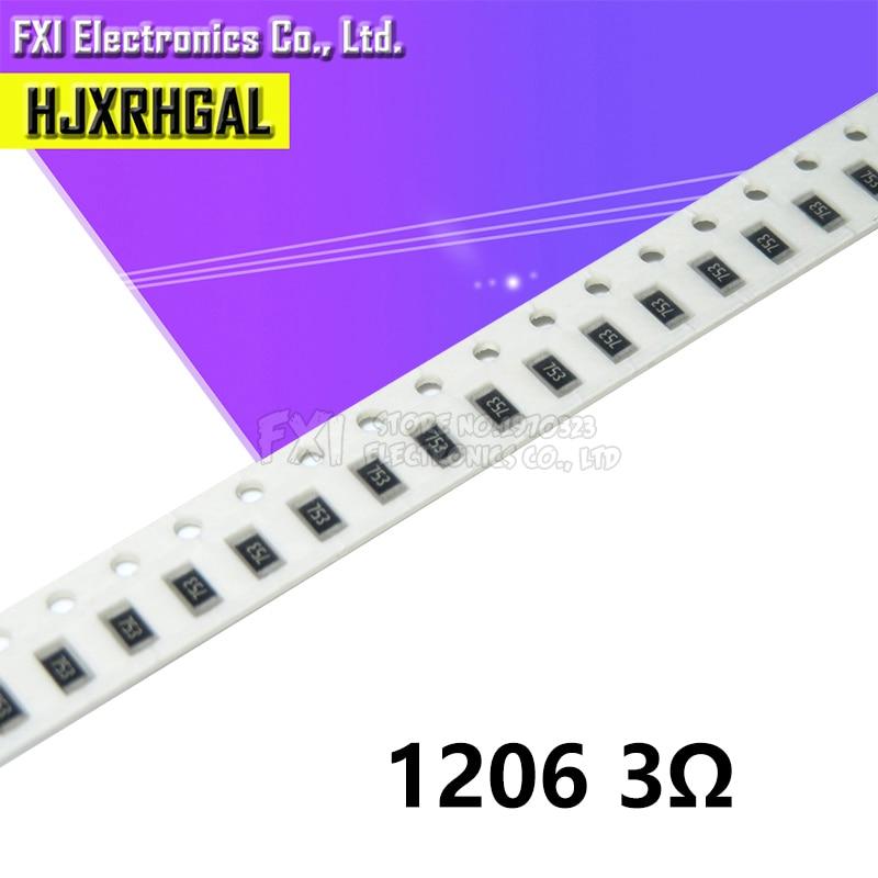100PCS 1206 SMD Resistor  3 Ohm Chip Resistor 0.25W 1/4W 3R New Original