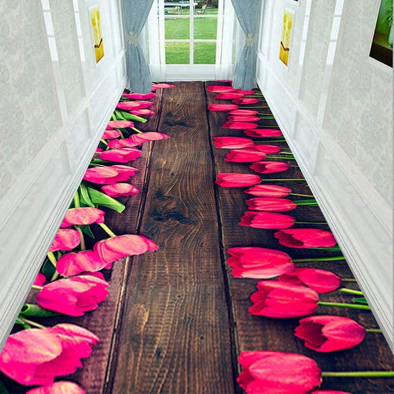 Kitchen Bathroom Antiskid Mats Creative Door Mat Plant Carpet 3d Printing Hallway Carpets Bedroom Living Room Tea Table Rugs CF - 2
