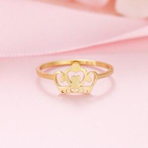 DOTIFI 316L нержавеющая сталь Модные кольца для женщин Корона кольцо ювелирные изделия обручальные вечерние оптовая продажа E3|Кольца|   | АлиЭкспресс