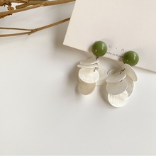 Free Shipping Round Shell Charm Pretty Earrings Party Gift Modern Female Girls pretty girls