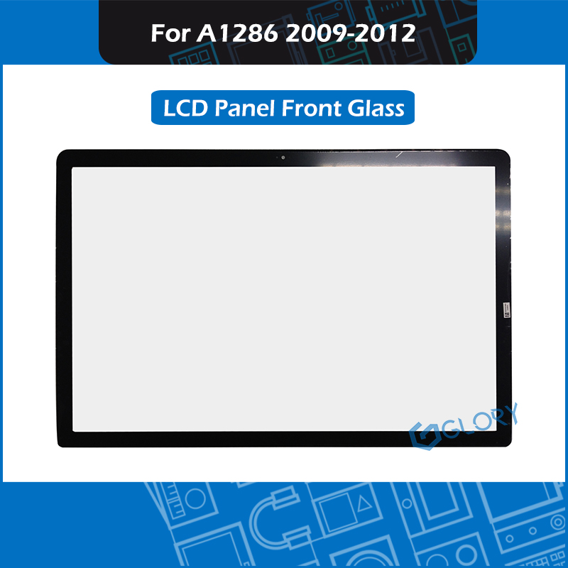 New A1286 LCD LED Front Glass Panel For Macbook Pro 15 A1286 Glass Replacement 2009 2010 2011 2012 image