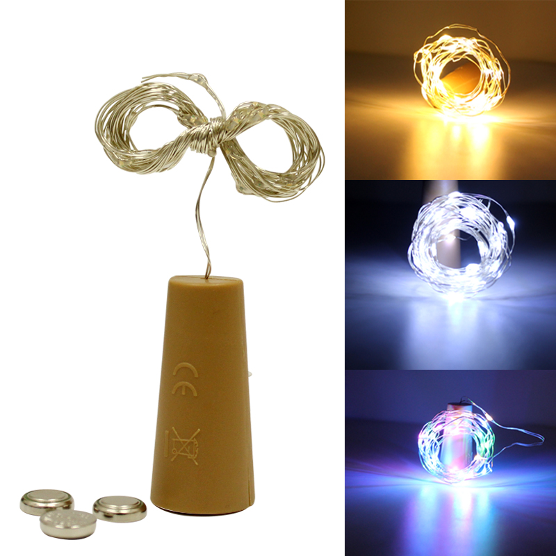 3M Cork LED String RGB Waterproof Copper Wire Strip Light Warm White 6v