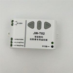 Image 3 - JW T02 AC 220V Động Cơ Không Dây Điều Khiển Từ Xa Lên Xuống Dừng Hình Ống Điều Khiển Động Cơ Động Cơ Tiến Ngược TX RX nắp Gài