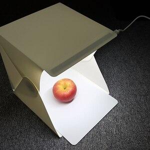 Image 2 - جديد المحمولة للطي صندوق الضوء التصوير مصباح ليد غرفة صور إضاءة الاستوديو خيمة لينة صندوق الخلفيات للكاميرا DSLR