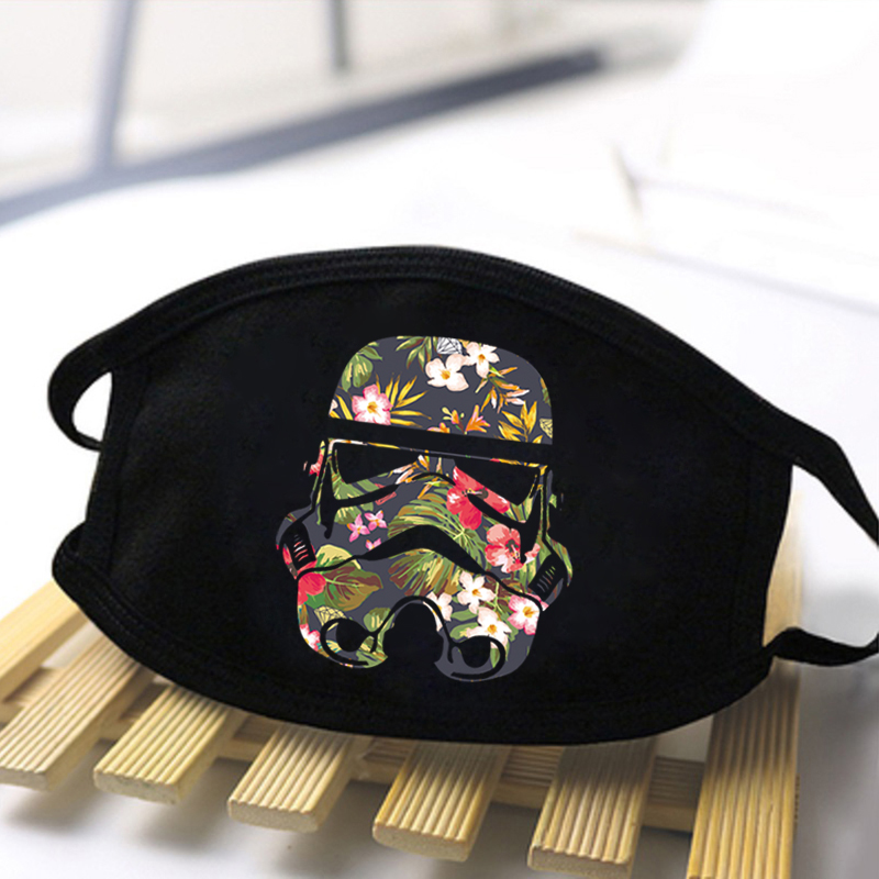 Fashion Star Wars Print Mask 2020 Washable Dustproof Mouth-Muffle Baby Yoda Mandalorian Unisex Black Casual Warm Kpop Masks