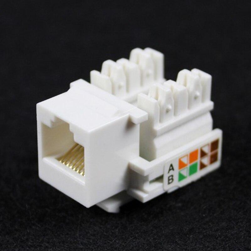 10 stücke Cat5E 8P8C RJ45 LAN Netzwerk Ethernet Anlege Keystone Buchse Jack Kunststoff Weiß
