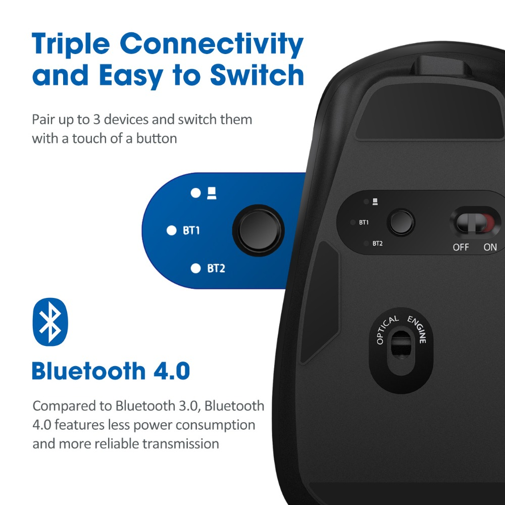 recarregável computador mouse 8 botões 3200 dpi
