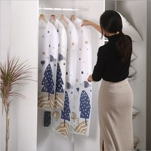 Bag Clothes-Dust-Cover Hanging-Clothes Coat Storage-Bag Wardrobe Household Transparent