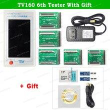 Tv160 6th testador de placa mãe de tv, ferramentas vbyone & lvds para conversor hdmi com sete adaptador + presente ezp2019