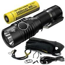 2020 NITECORE MH23 1800 Lumens CREE XHP35 HD LED lampe Rechargeable étanche lampe de poche avec 18650 batterie livraison gratuite