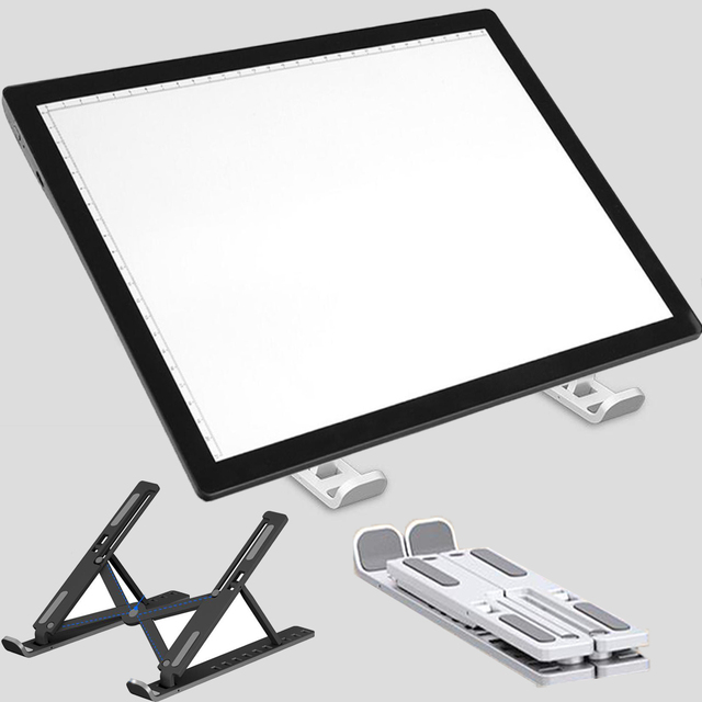 A3 A4 A5 LED Diamond Painting Tool Light Pad Holder 10 files adjustable Foldable ABS Stand