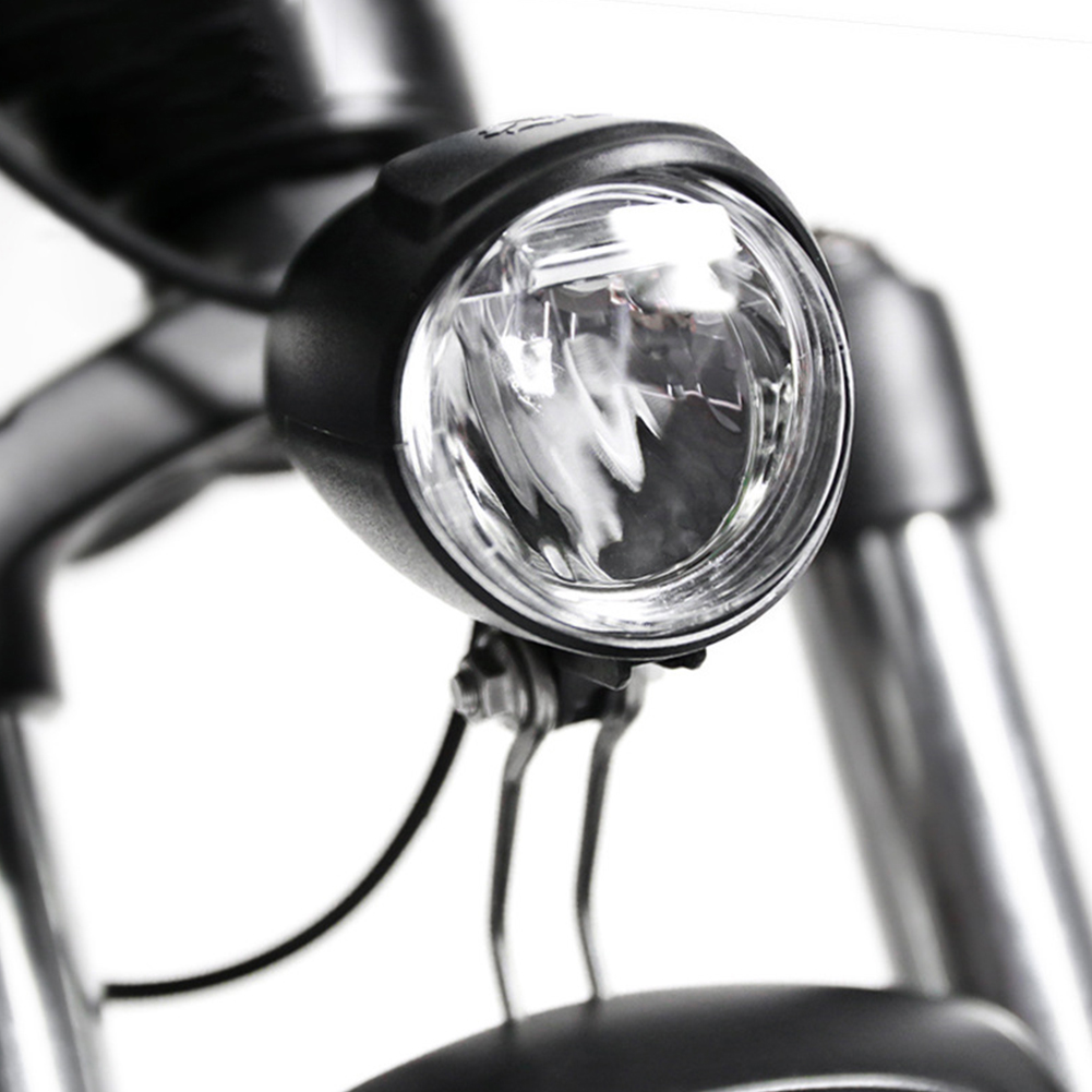 Bike Light Electric Bicycle 6V Front LED Headlight EBike Light  Bicycle Lamp Safety Warning Rechargeable Bike Accessorie