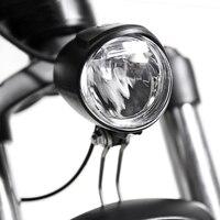 Luz da bicicleta elétrica 6 v frente led farol ebike luz da bicicleta lâmpada de aviso segurança recarregável bicicleta accessorie
