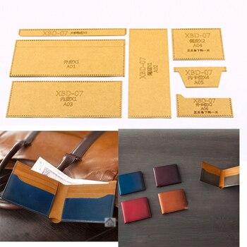 DIY leather craft card holder wallet template stencil 500gsm heavy weight kraft paper pattern 11x9cm