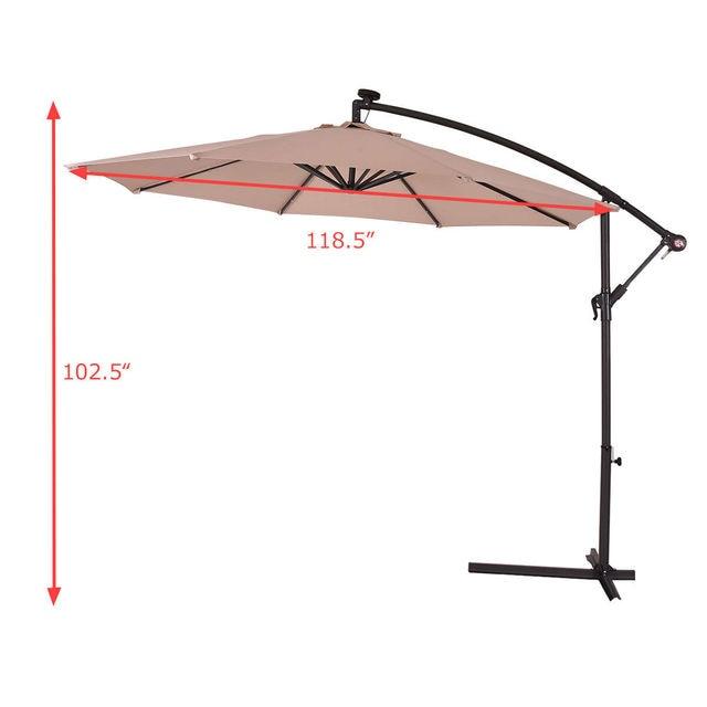 Costway 10' Hanging Sun Patio Umbrella  2