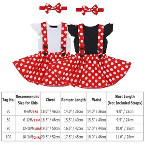 Image 5 - Cute Baby Girl Clothes Set Minnie Dress Cake Smash Outfit Girl Baby Birthday Clothes Suspender Girls Clothes for Photo Shoot