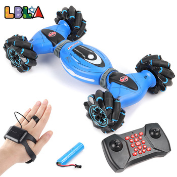 LBLA Gesture Induction Remote Control Stunt RC Car 4wd Twisting Off-Road Vehicle Light Music Drift Dancing Driving Toy for Kids 1