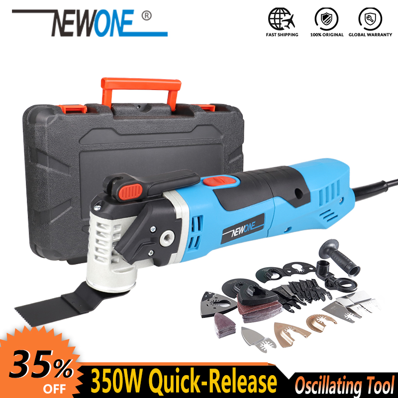 NEWONE Multi-Function Tool 350W Quick Release Oscillating Tool Electric Trimmer Quick Change Tool Renovator With Blades