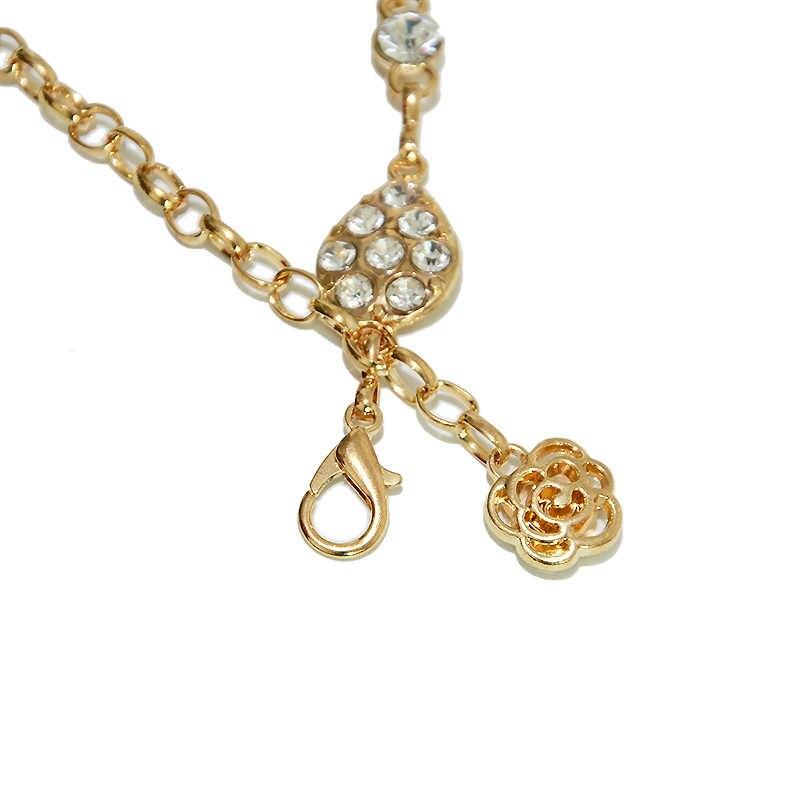Ceunture Homme de lujo gota de agua diamante cadena de Metal mujeres 2019 oro moda personalidad salvaje strass cintura cadena Bg-1414