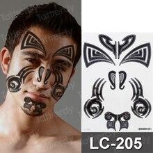 временные татуировки для мужчин на шее татуировки геометрическая простая наклейка для мальчиков черной хной трайбл татуировку лица stckers наклейка