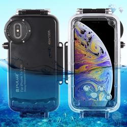 PULUZ 40m/130ft Waterproof Diving Housing Photo Video Taking Underwater Cover Case for iPhone XS Max