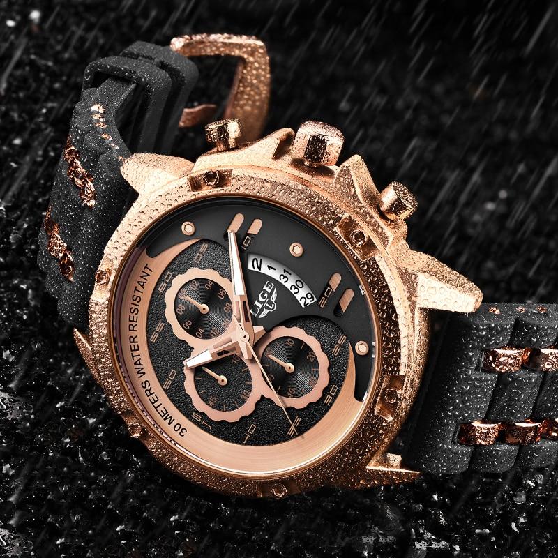 2020 LIGE Mens Watches Top Brand Luxury Waterproof Quartz Wristwatch Men Business Clock Male Sport Chronograph Relogio Masculino