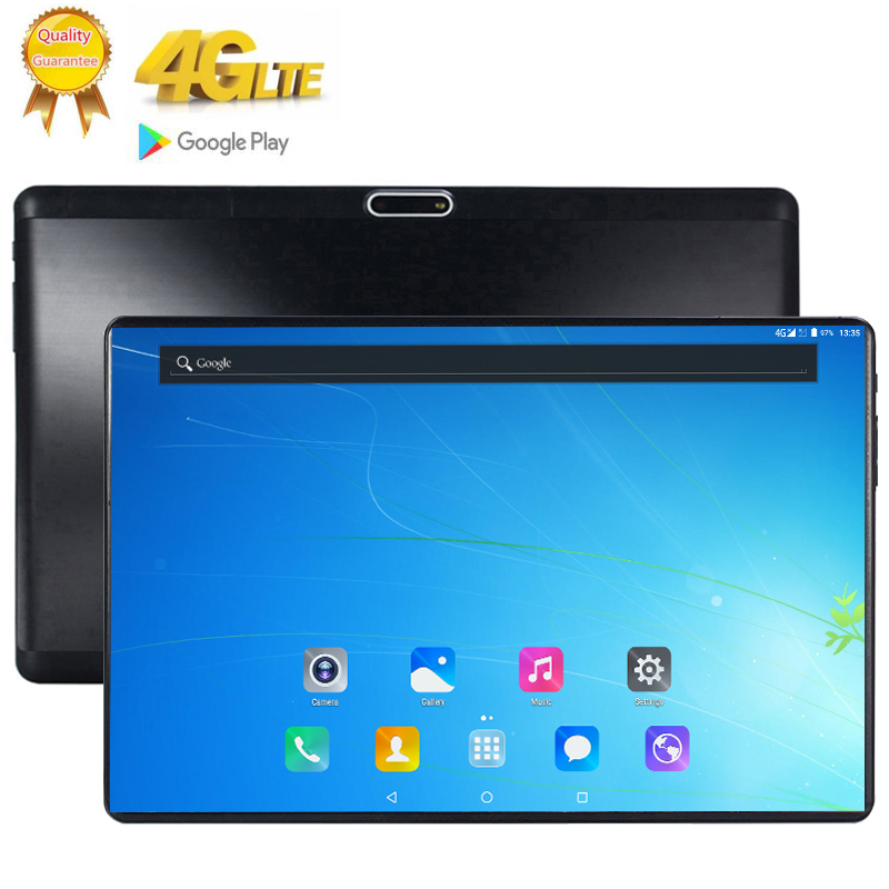2020 4G LTE 128GB Global Bluetooth Wifi Android 9.0 10.1 Inch Tablet 10 Core 8GB RAM 128G ROM Dual SIM Card 2.5D Glass Tablet Pc