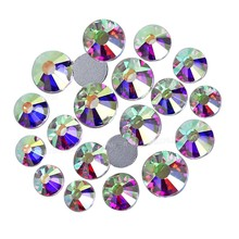 Promotie! Clear Ab Non Hot Fix Steentjes Ss16 Ss20 Platte Achterkant Kristallen Glas Steen Strass Glitters Voor 3d Nail Kledingstuk Bruiloft