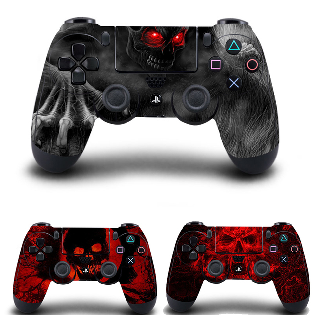 Hot Blue Skull Sticker Skin Case Decal For Sony PS4 Playstation 4 Controller