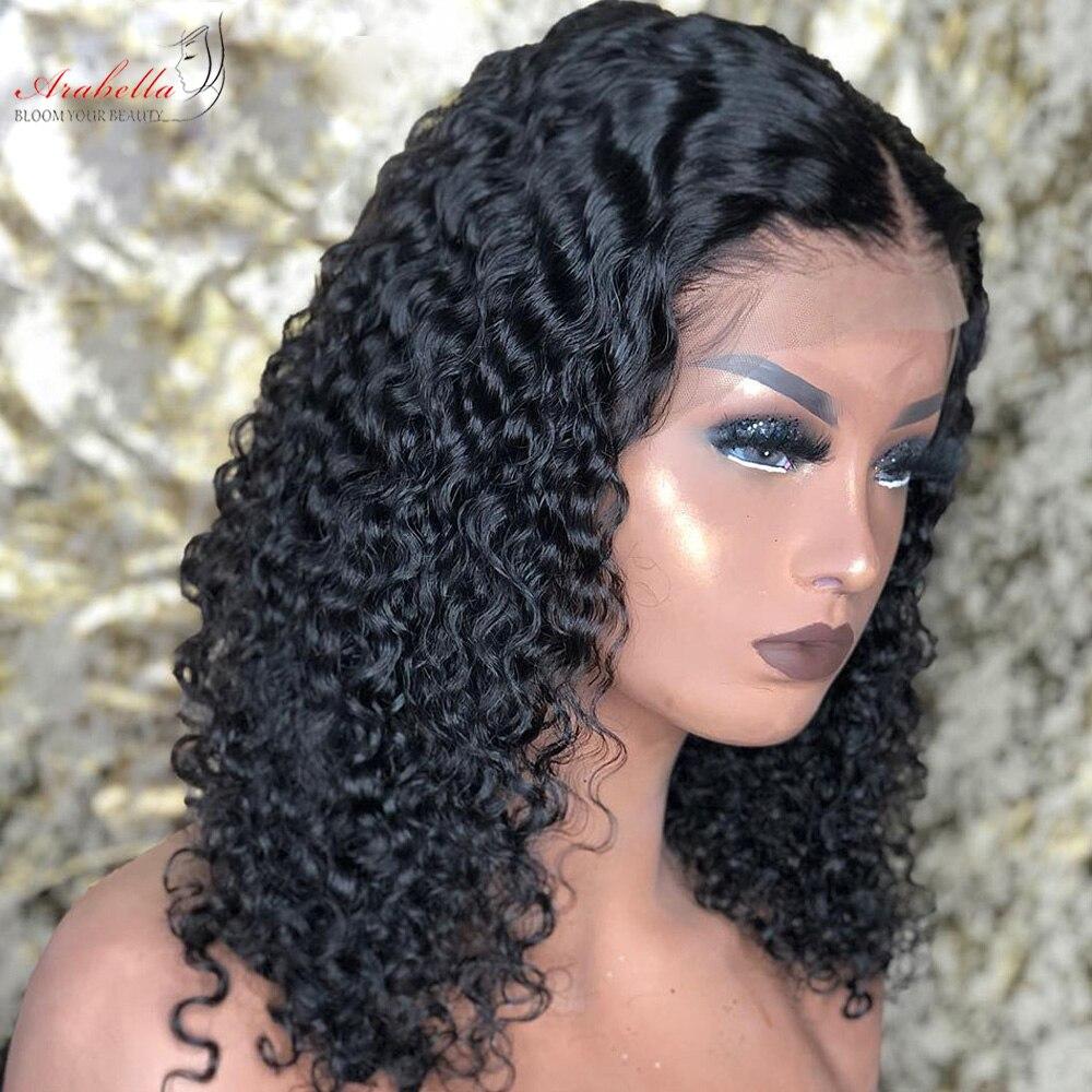 Deep Wave Bob Wig Lace Front  Wigs 13x4  Hair With Baby Hair  Lace Frontal Wig Arabella Closure Wig Bob 3